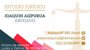 Joaquin Aizpurua. Abogado